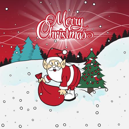 Cartoon Santa character.