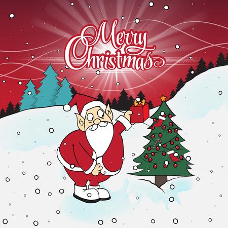 Christmas Santa Claus. Illustration