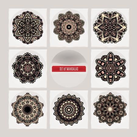 Mandala. Vintage decorative elements. Arabic, Indian, ottoman motifs.