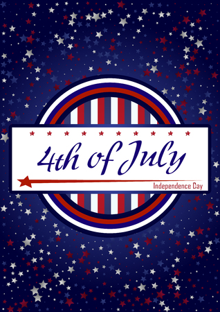 old glory: Creative Invitation Flyer , American Independence Day Party celebration.