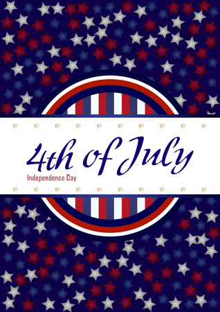 Creative Invitation Flyer , American Independence Day Party celebration Illustration