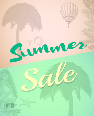 huge tree: End Of Summer Sale banner design template