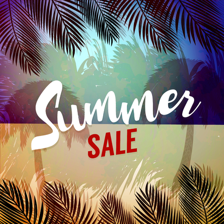 End Of Summer Sale banner design template Stock Vector - 82508095