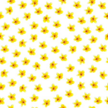 Carino motivo floreale nel piccolo fiore. Motivi sparsi casualmente. Trama vettoriale senza soluzione di continuità. Modello elegante per stampe di moda. Stampa con fiori leggeri molto piccoli. Sfondo bianco.