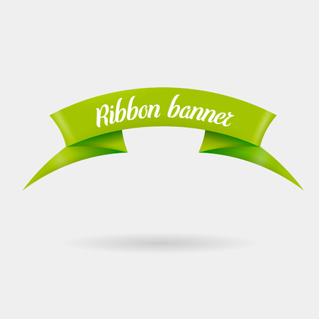 Ribbons horizontal banners. Isolated vector illustration Illustration