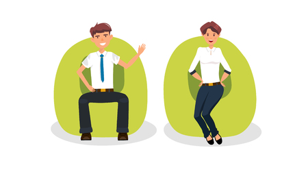 Business characters isolated vector set Illustration
