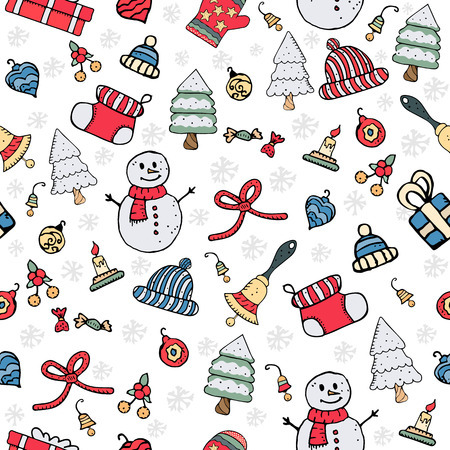 Seamless Christmas pattern vector illustration