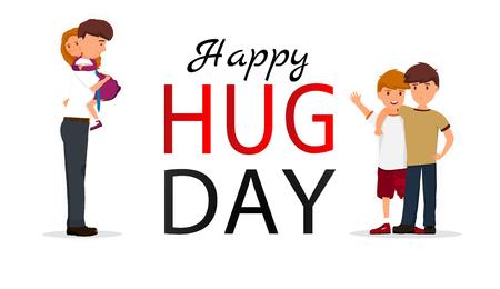 Hug day background for banner, poster. Vector illustration Vettoriali