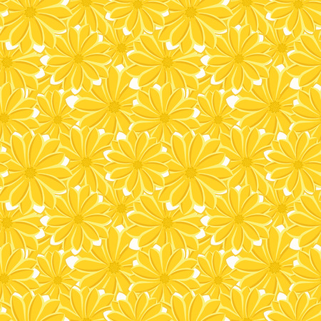 Trendy Seamless Floral Pattern in Vector. Illustration