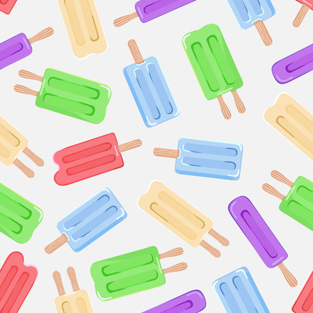 Seamless pattern background with ice cream. Vector illustration