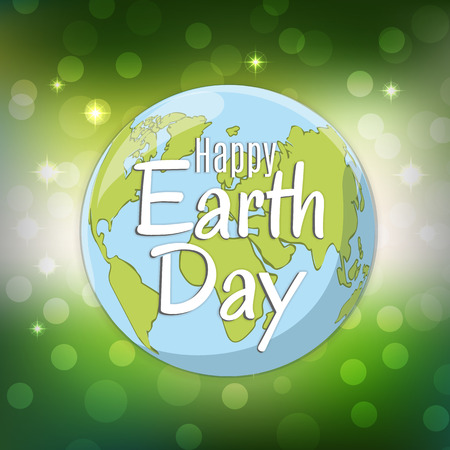 Earth day logo design. World environment day. Ecology concept. Vector Illustration.