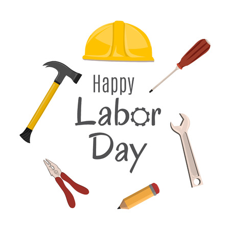 Happy Labor Day banner. Design template. Vector illustration.