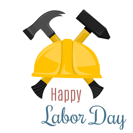 Happy Labor Day banner. Design template.