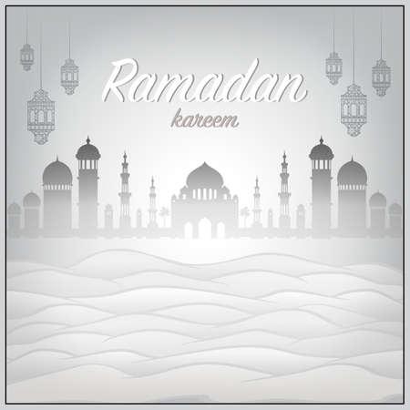Ramadan Kareem Silhouette Mosque Muslim Prayer