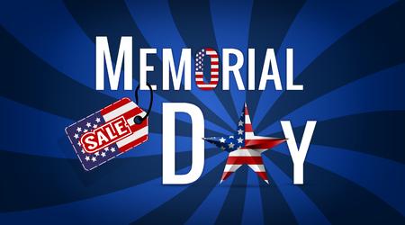 Ilustración de venta de Memorial Day Ilustración de vector