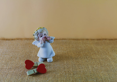 Little angel with love. Stock Photo