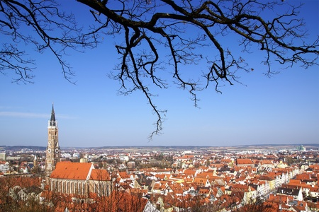 Picturesque panorama of Landshut  Germany photo