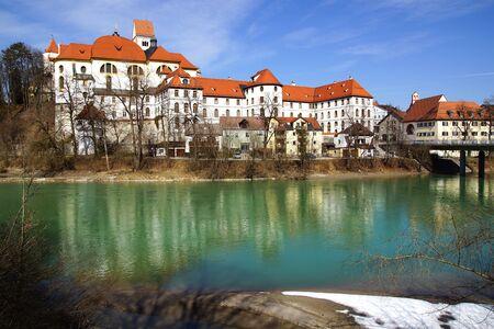 burg: Picturesque panorama of Fussen  Germany Stock Photo