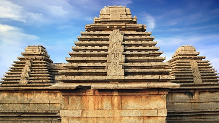 Ancient ruins of Temple  Hampi, India   photo