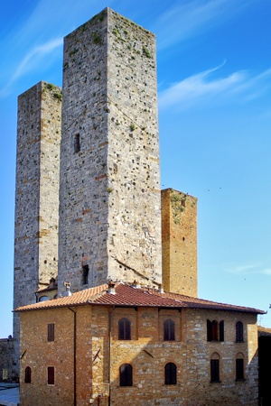 Towers of noble citizens  San Gimignano, Italy photo