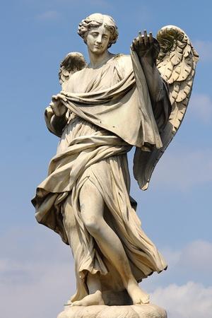 catholic angel: Ponte Saint Angelo  Rome, italy