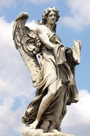 catholic angel: Ponte Sant'Angelo  Rome, italy