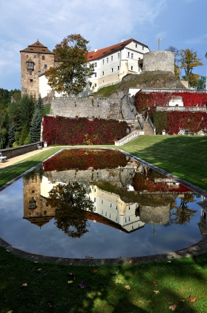 nad: Picturesque landscape with castle Bechov nad teploy  Czech republic  Editorial