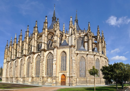 St.Barbara Church in Kutna Hora, Czech republic  photo