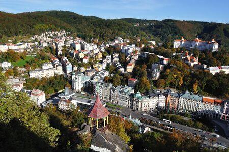 vary: Panorama of Karlovy vary Czech republic