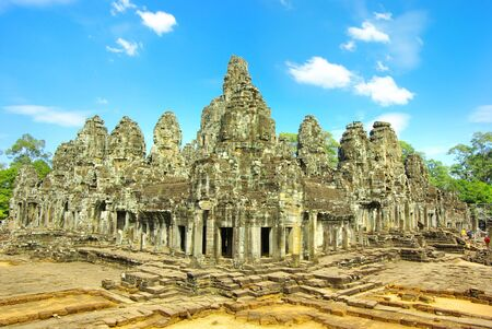 khmer: Bayon temple in Angkor Thom, Cambodia Stock Photo
