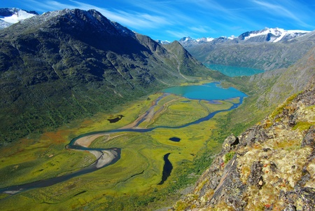 Picturesque Norway mountain landscape. Jotunheimen National Park  Stock Photo