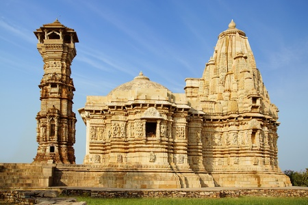 The ancient temple in the Chittorgarh fortress. photo