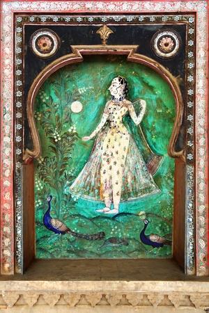 The decoration of the Bundi Palace  India Stock Photo - 15927711