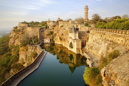 fortress: Picturesque panorama of Cittorgarh Fort, India