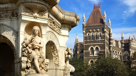 Flora fountain in Mumbai, India Stock Photo