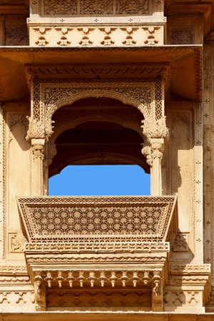 Haveli-private mansion in India. Jaisalmer city photo