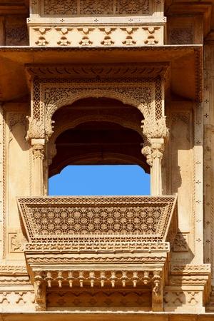 Haveli-private mansion in India. Jaisalmer city Stock Photo - 13081654