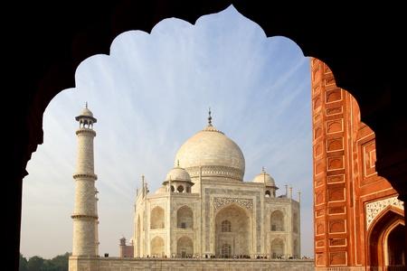The Taj Mahal  white Marble mausoleum   Agra, India  photo