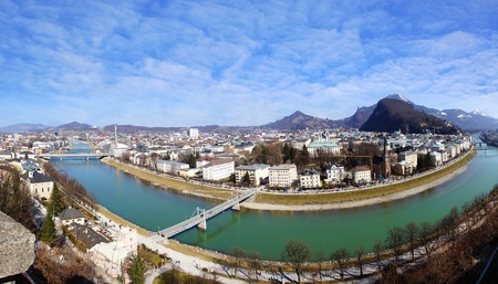 Picturesque panorama of Salzburg  Austria photo