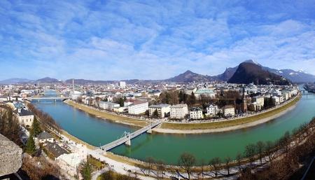 burg: Picturesque panorama of Salzburg  Austria Stock Photo