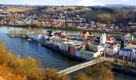 Schilderachtige panorama van Passau Duitsland