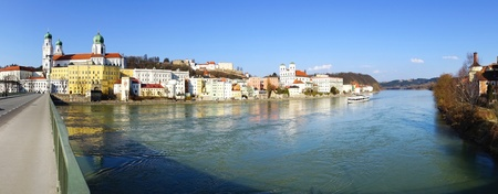 Picturesque panorama of Passau  Germany                            photo