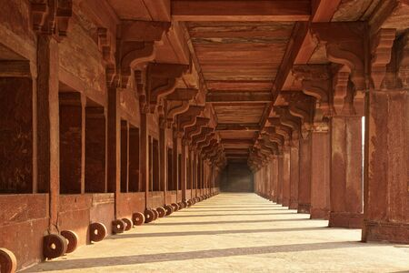 architectural heritage: Ancient ruins of Temple  Fatehpur Sikri,  India