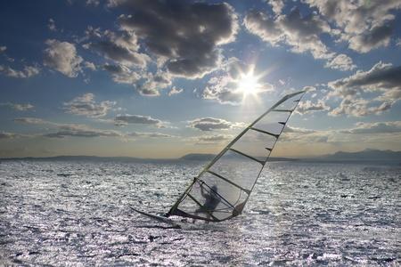 windsurf: Deportista de windsurf