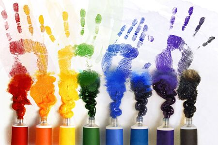 Tubes of paint  Stock Photo - 13150819