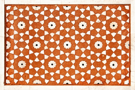 inlay: Polished sandstone surface is covered by stone inlay  Jama Masjid   Fatehpur Sikri, India