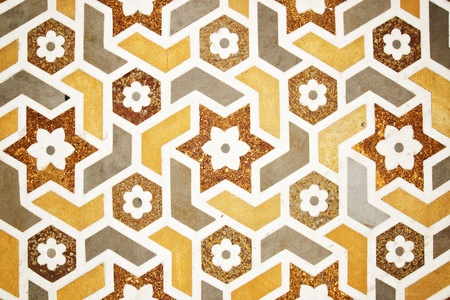 inlay: Details of polished marble surface   Agra, India