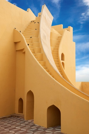 On the photo  Jantar Mantar Observatory  Jaipur, India