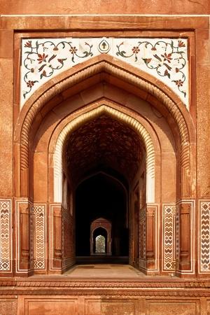 De Taj Mahal witte marmeren mausoleum in Agra, India Stockfoto