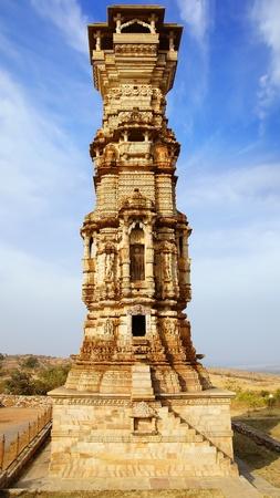 chittorgarh fort:  Victory tower Cittorgarh Fort, India